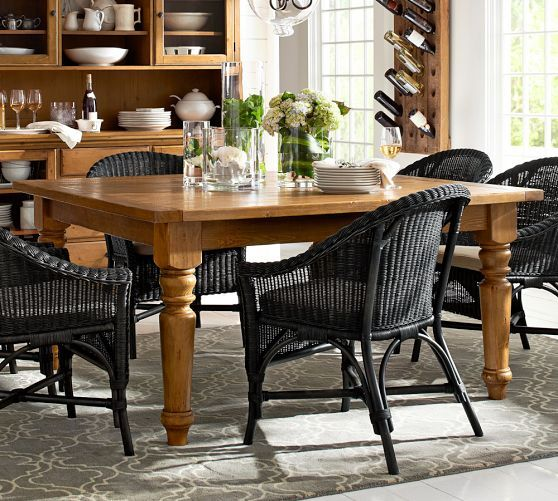 Sumner Square Fixed Dining Table Pottery Barn Dining Room