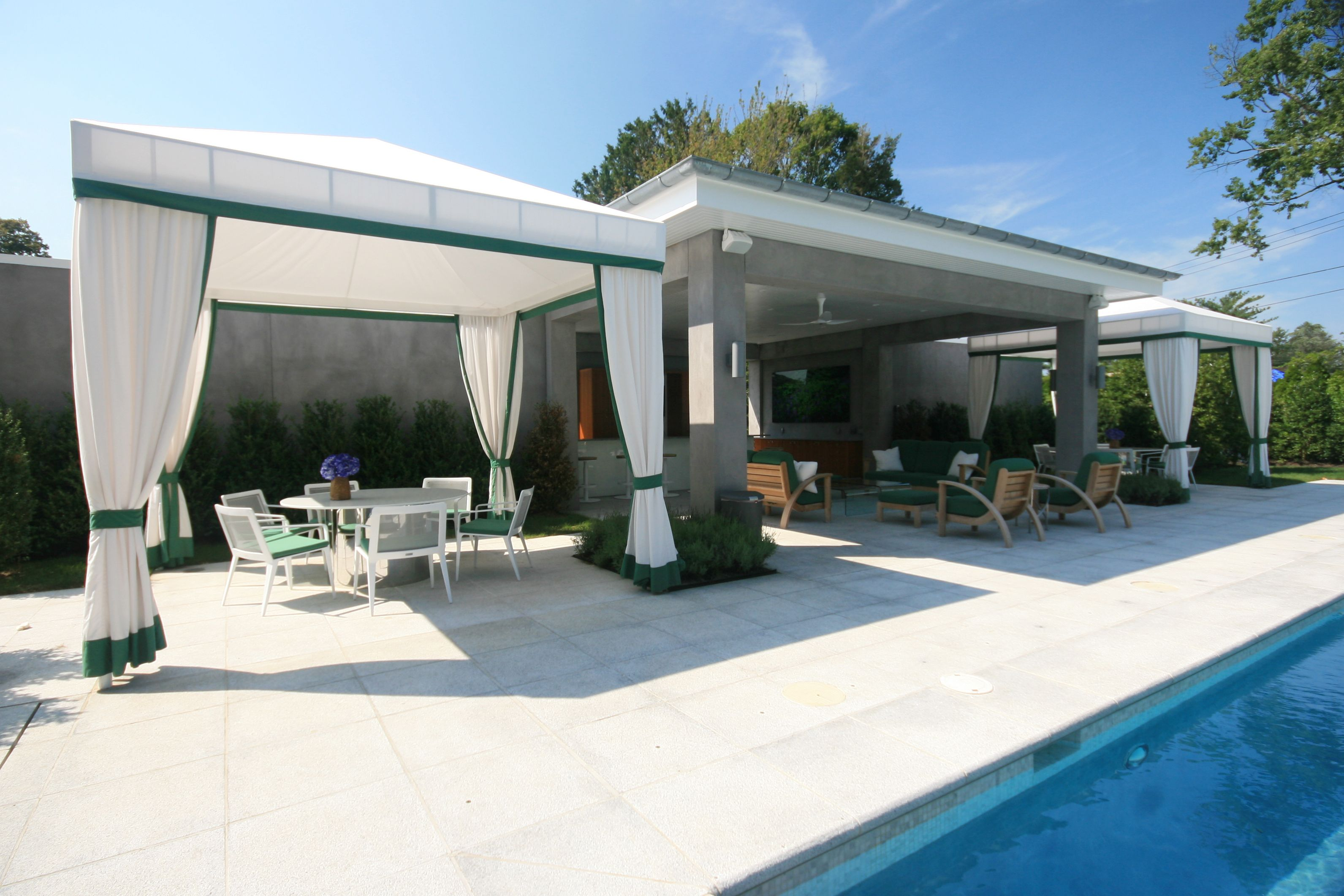 Beautiful Poolside Canopies Designed And Fabricated By Hudson Awning Sign Co Canopy Design Canopy Shade Canopy