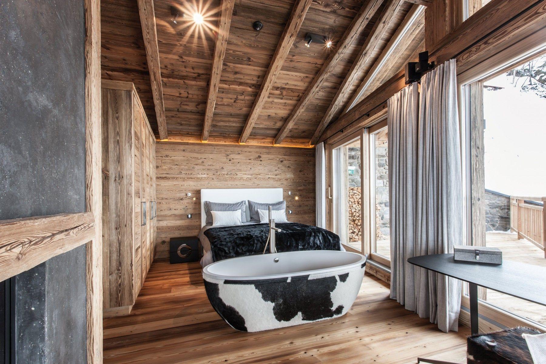 Holzfarbe Badezimmer Trends Chalet Design Rustikale Badezimmer Designs