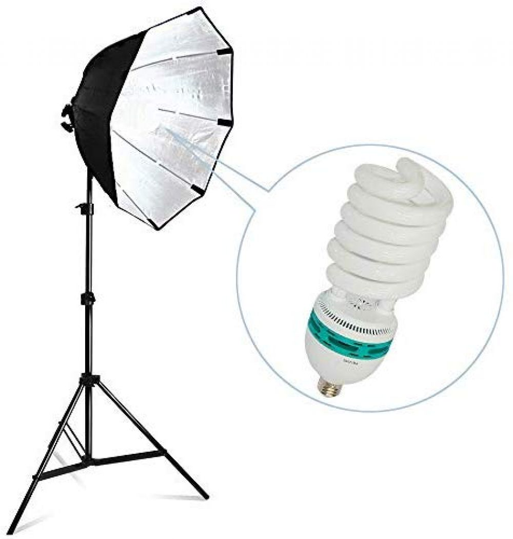 Limostudio 1pack Photography Studio Continuous 26 Octagonal Soft Box Lighting Light Kit With Photo E26 E27 Cfl 105w 6500k Bulb And Light Stand For Photo Stu In 2020 Photo Studio Studio