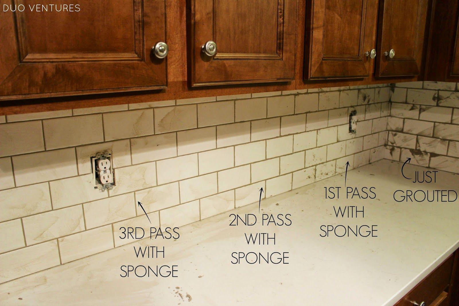 Kitchen Update Grouting Caulking Subway Tile Backsplash Subway Tile Backsplash Updated Kitchen Subway Tile