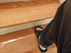 David Added Our Clear Grip Tape To Wood Stair Treads To Make Them Less  Slippery.