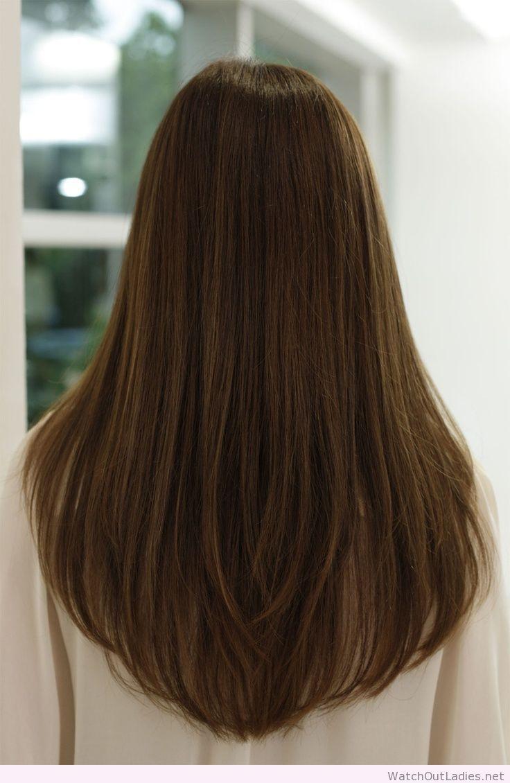 Corte cabello largo mujer