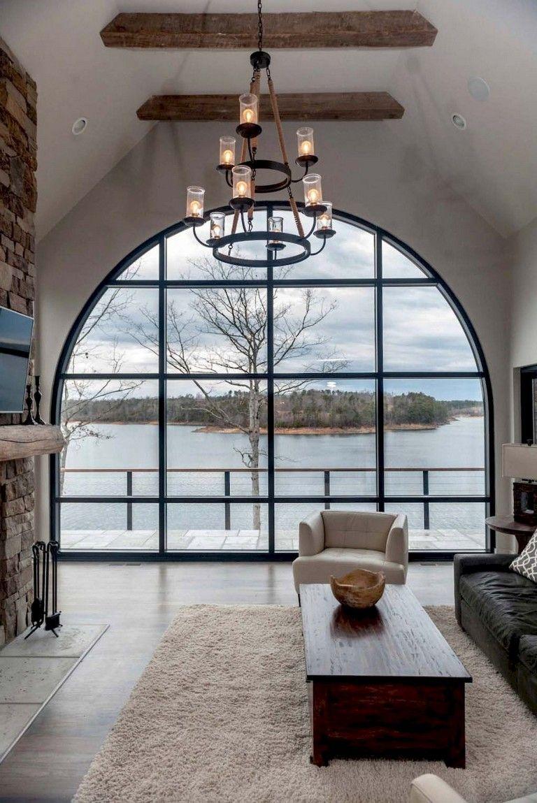 50 Amazing Lake House Living Room Decor Ideas Modern Lake House
