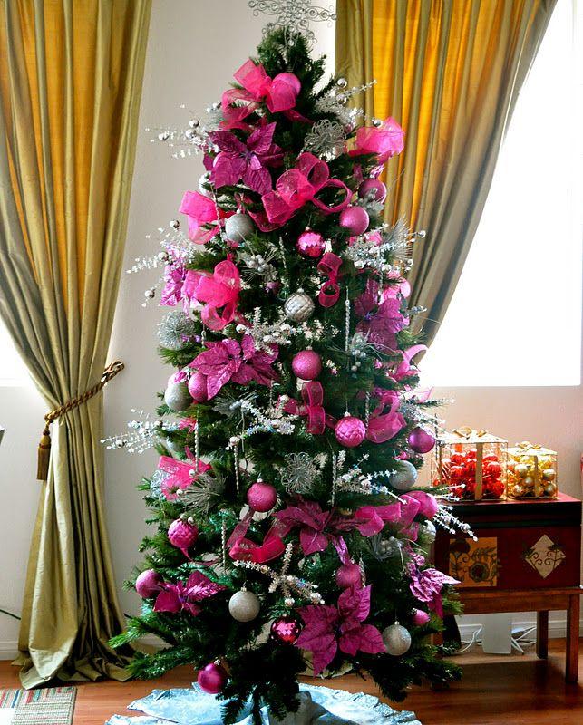 Pretty Dark Pink Christmas Tree Girly Pink Pretty