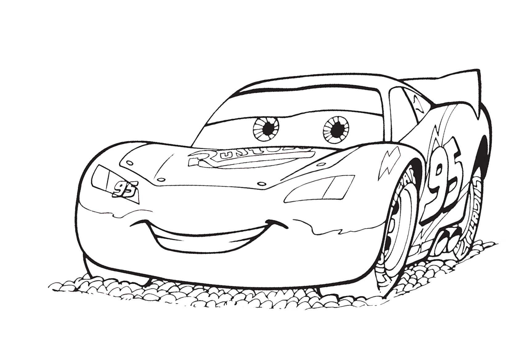 How to colour Lightning McQueen ?  Disney coloring pages, Disney