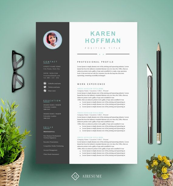 Resume Template / CV Template Cover Letter Instant by A1RESUME - cv vs resume