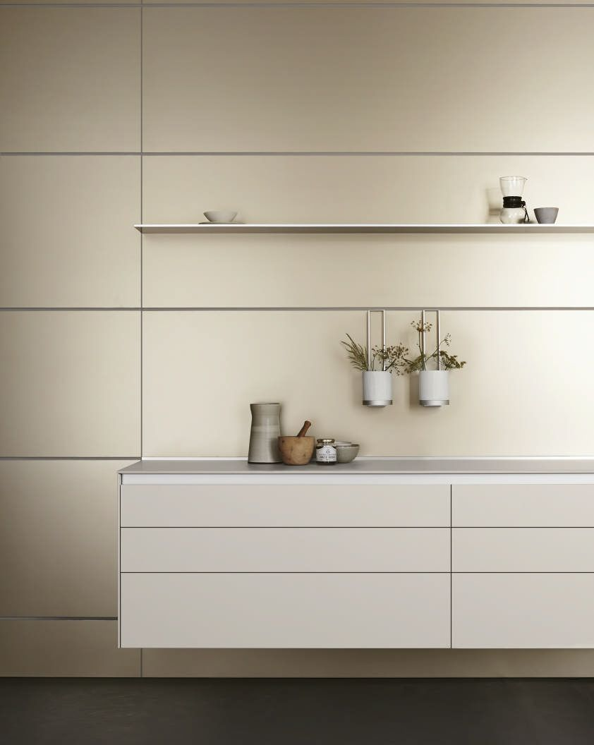 Bulthaup Küchenzeile Bulthaup B3 Wall Hung Units Industrial Design Kitchen Beige