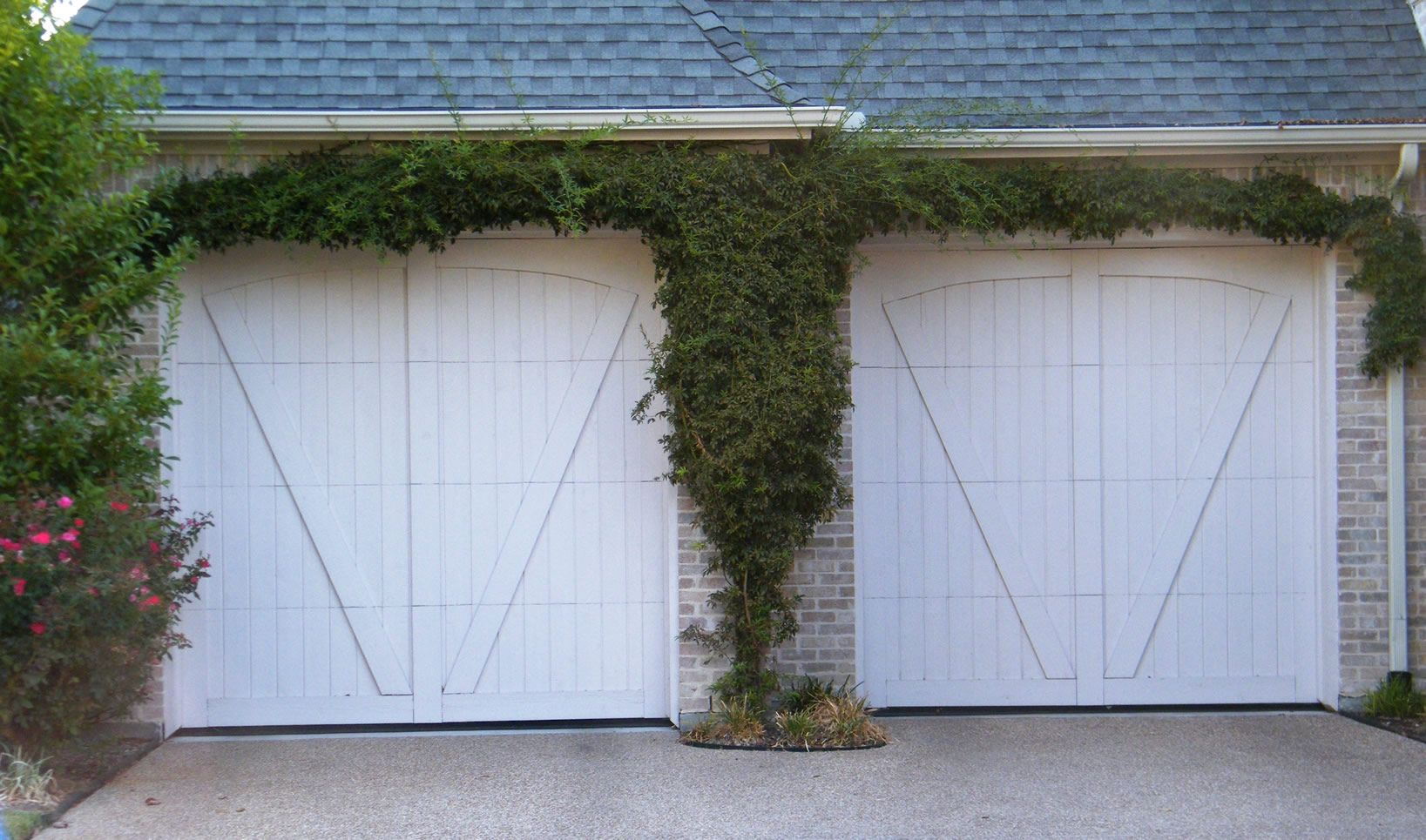 White Wood Garage Doors
