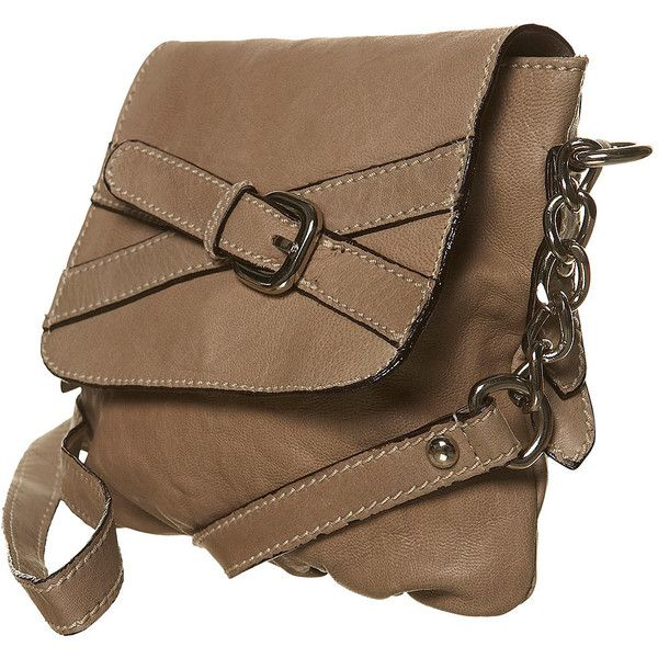Buckle Detail X Body Bag ($43) ❤ liked on Polyvore featuring bags, handbags, shoulder bags, accessories, bags &amp purses, leather bags, brown purse, leather purse, handbags crossbody and handbags shoulder bags