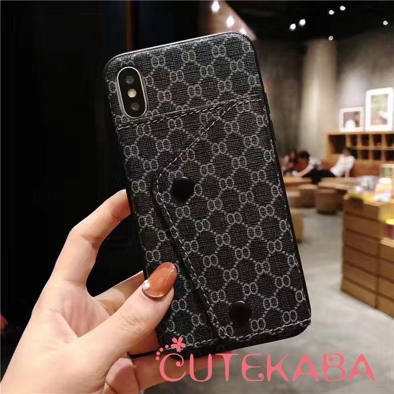 967b5a691949 gucci パロディ iphonexs ケース 背面ポケット ハイブランド iphonex max ケース 三つ折り財布付き グッチ