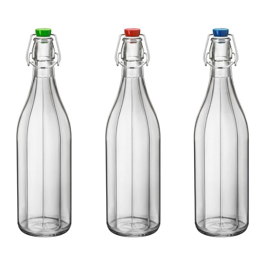 Faceted 1 Liter Oxford Swing Top Bottle Clear Swing Top Bottles Bottle Bottles And Jars