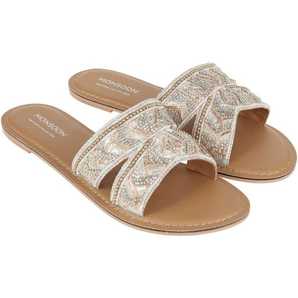 Embroidered Dressy Mule Sandals