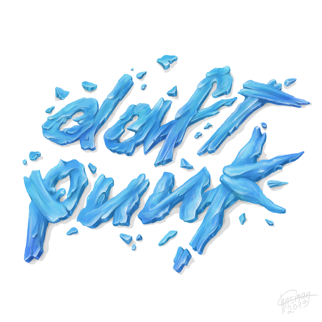 Art Cheesman Art Daft Punk Creative Illustration Types Of Lettering