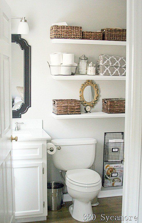 11 Fantastic Small Bathroom Organizing Ideas  Shelving Toilet Custom Small Bathroom Ideas Storage Design Decoration