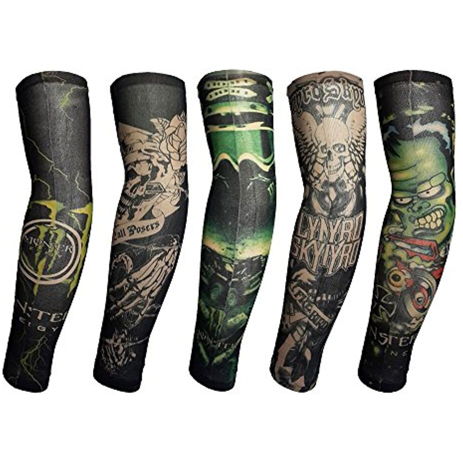 4 Sheets Extra Large Temporary Tattoos, Full Arm >>> You