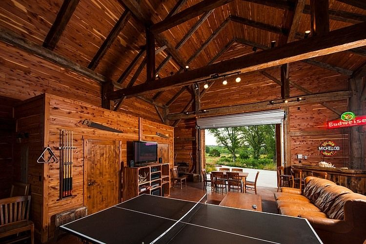 Fultonville Barn by Heritage Barns #garagemancaves