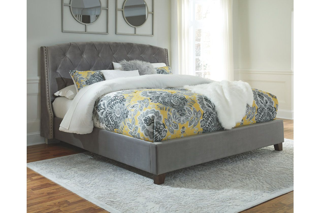 Best Kasidon Queen Tufted Bed Ashley Furniture Homestore Queen Upholstered Bed Grey Upholstered 400 x 300