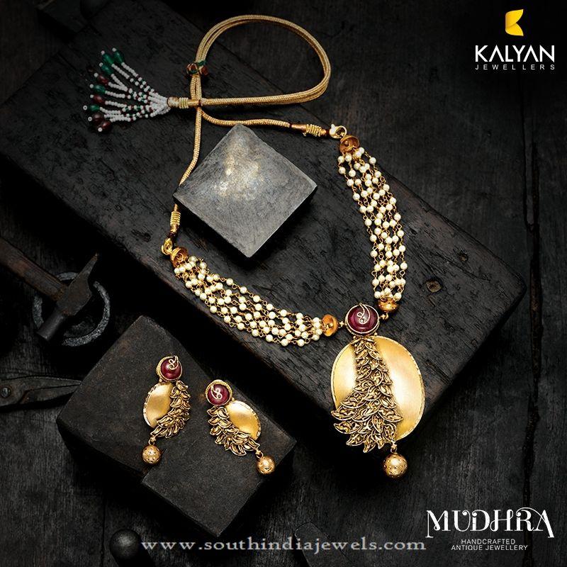 Gold Designer Necklace from Kalyan Jewellers | Pinterest ...