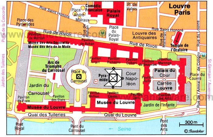 Map of Paris Louvre  PlanetWare  Maps  Pinterest  Louvre and