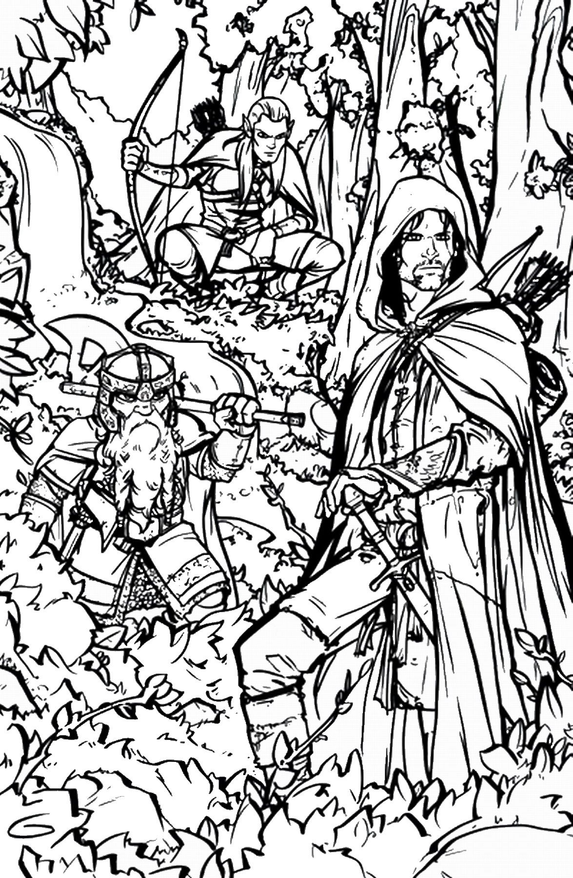 Lotr Coloring Page Lord Of The Rings Coloring Pages More
