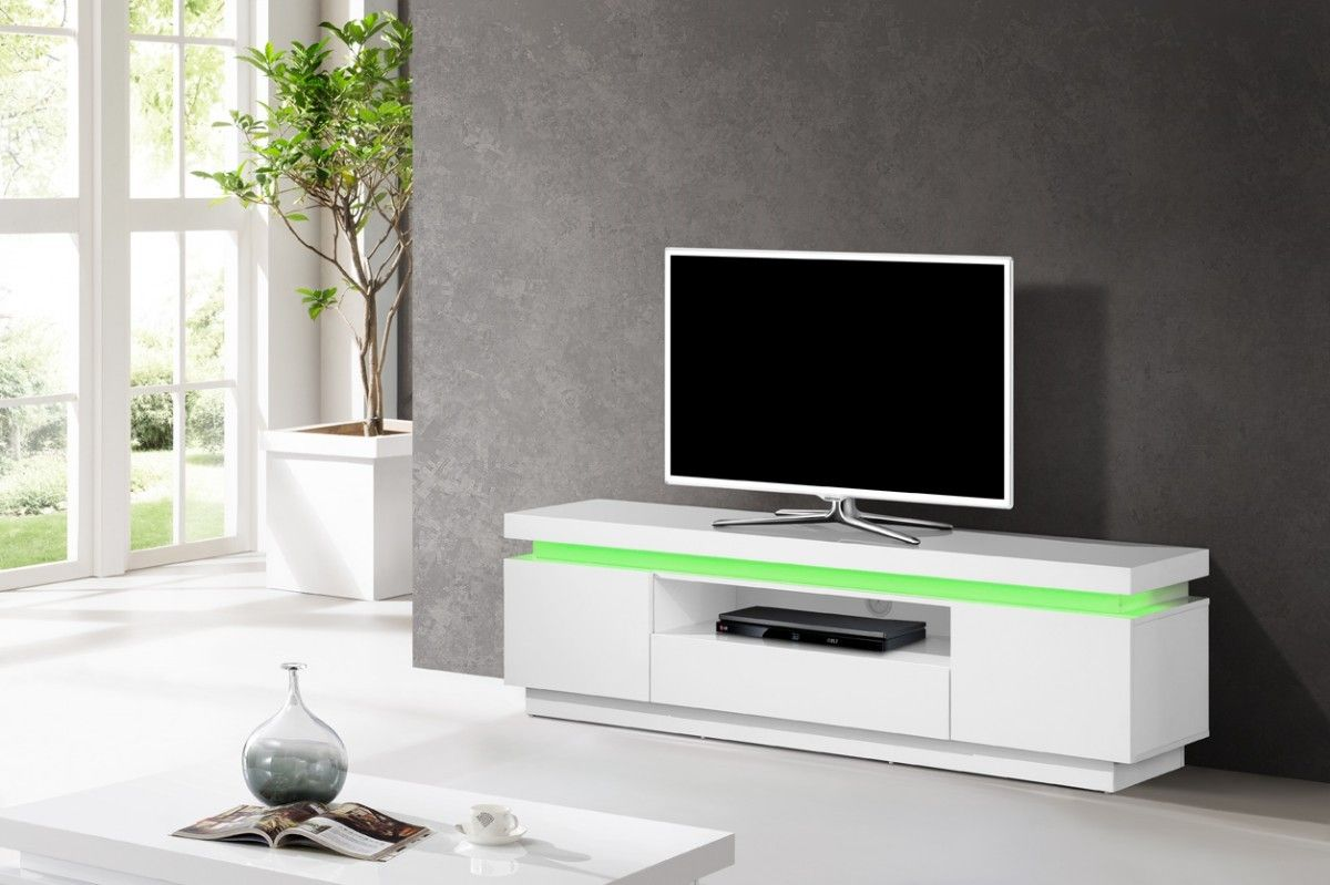 Inspirant Meuble Tv Hifi Int Gr Blanc D Coration Fran Aise  # Grand Meuble Bas Tv