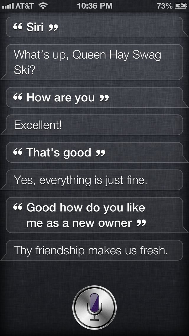 my funny convo with siri