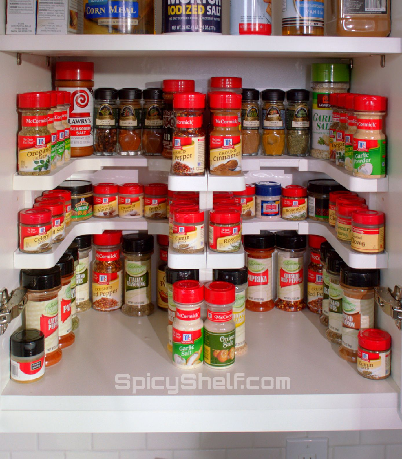 Edenware Spice Rack And Stackable Shelf Prepossessing Use Two Spicy Shelf Kits Stacked Sideside For A Ton Of Spice Design Inspiration