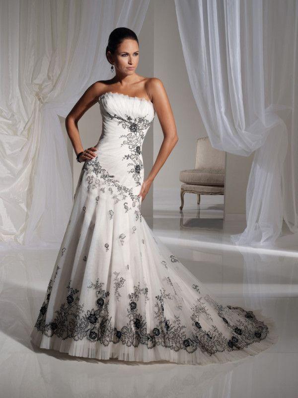zwart wit trouwjurk | weddingstuff | Pinterest | Ideas para bodas ...