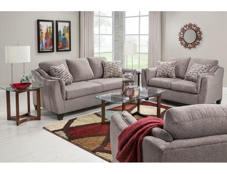 Slumberland andorra collection pewter 7pc room package - Slumberland living room furniture ...