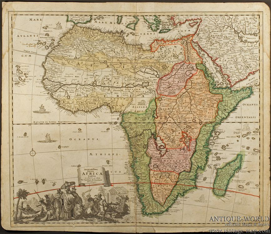 Africa, 1700 | Maps | Africa map, Geography map, African map