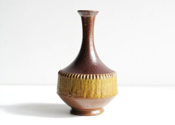 Vintage Swedish HOGANAS Stoneware Vase Signed by LittleRetronome, $49.00