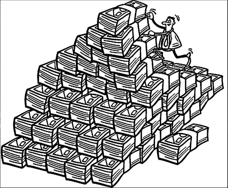 Stacks Of Money Coloring Sheet Coloring Pages For Kids Coloring Pages Sun Coloring Pages