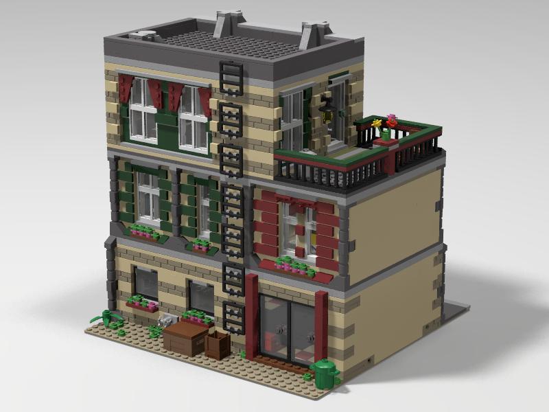 An Apartment In Paris Legos Lego Lego House I Lego Modular