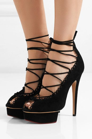 clearance supply Charlotte Olympia Lace Platform Pumps professional for sale many kinds of cheap online Iiyt4pVc6T