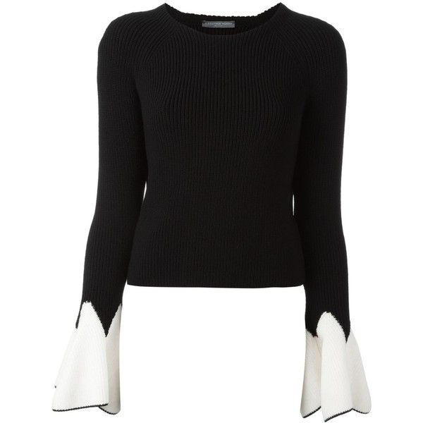 Ribbed bell-sleeve sweater Alexander McQueen Cheap Sale Great Deals Buy Cheap Exclusive From China Online Sale Get To Buy Best Place WXMLDAou