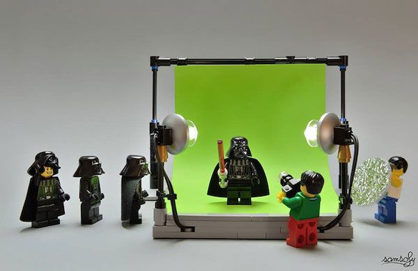 Images Of LEGO Minifigs Caught In Funny Situations Created With Everyday Items
