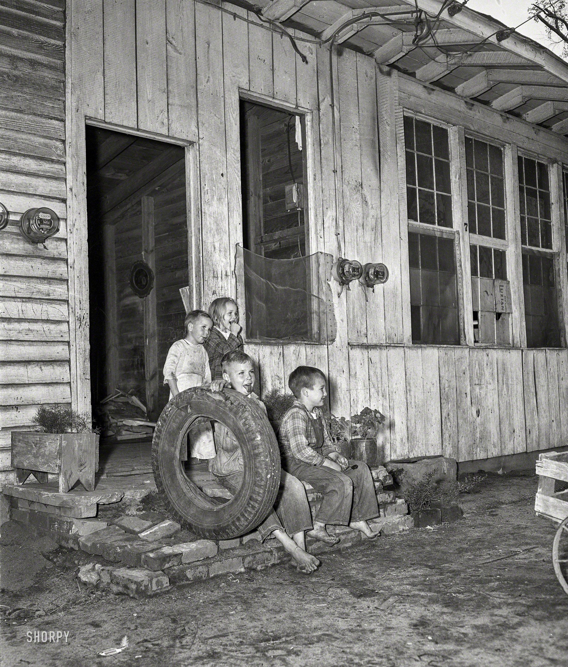 "Columbus, Georgia, Circa 1948. ""Housing -- 'A.C.' Chicken"
