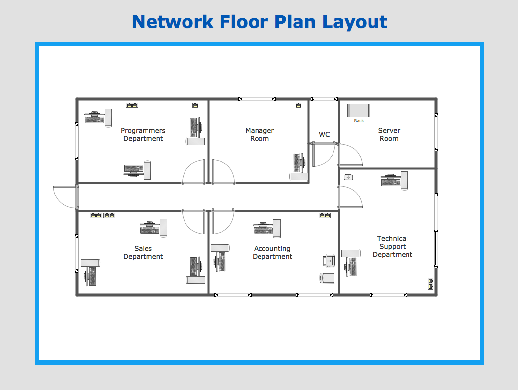 sample network floor plan layout medical office plans small
