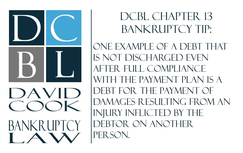 dcbl chapter 13 bankruptcy tip one example of a debt that is not