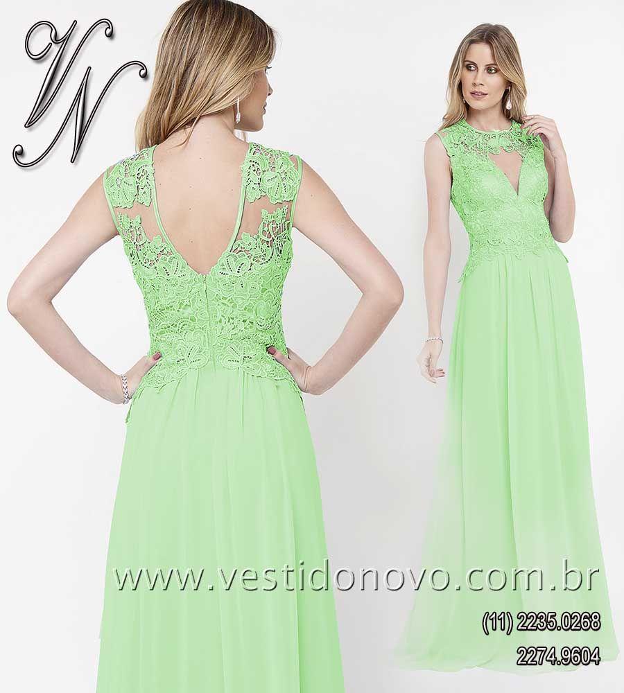 a1299b67403ef Vestido verde claro, mãe do noivo, madrinha de casamento, formatura da LOJA  VESTIDO
