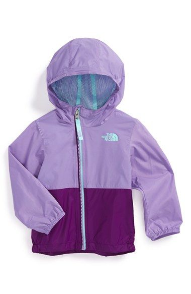 7c9fbe767 The North Face 'Flurry' Colorblock Hooded Waterproof Wind Jacket (Baby Girls)  available at #Nordstrom