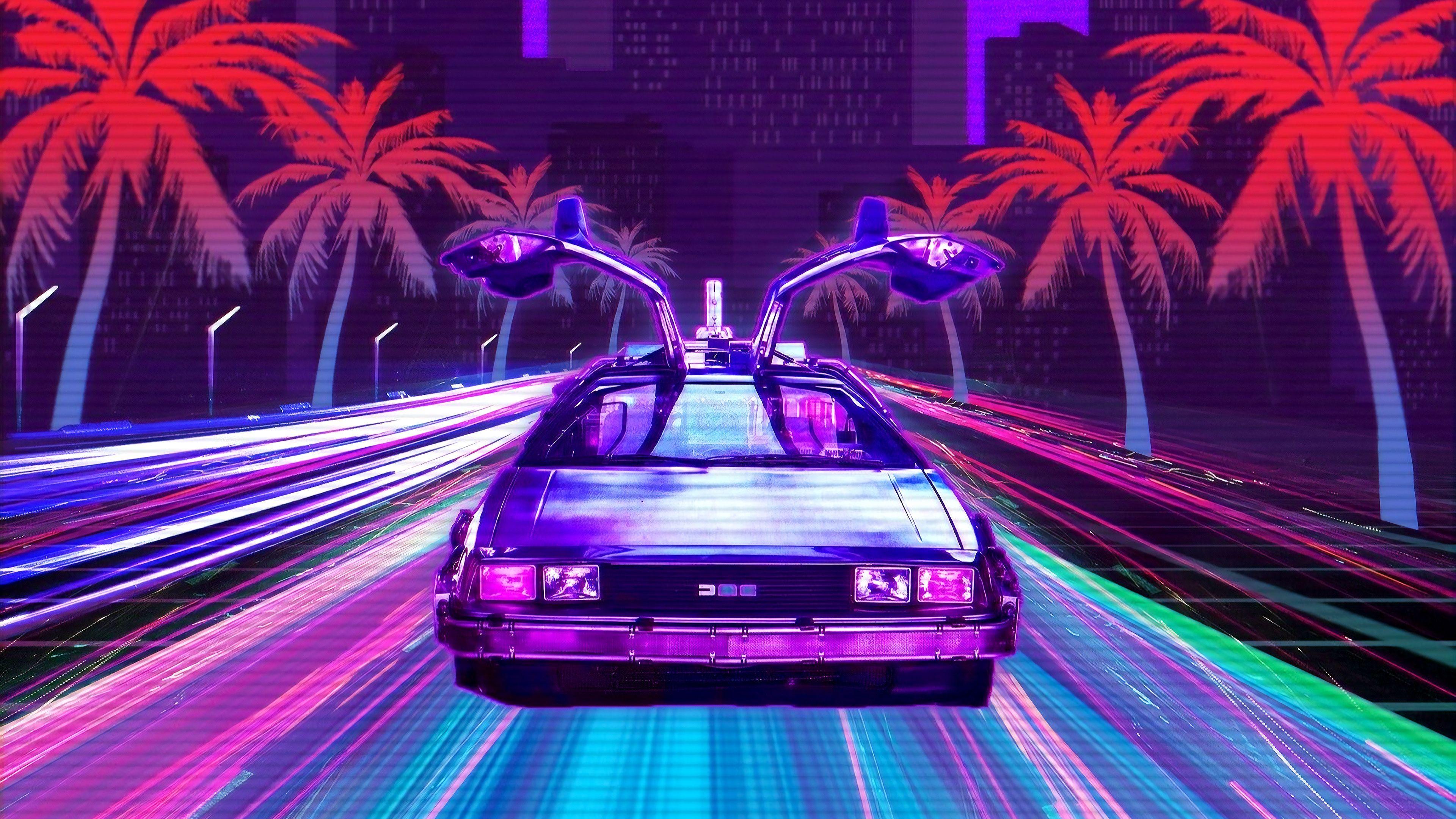Retro Lux Cars Retrowave 4k Retrowave Wallpapers Hd Wallpapers Digital Art Wallpapers Cars Wallpapers Artwork Wa Delorean Gaming Wallpapers Retro Wallpaper