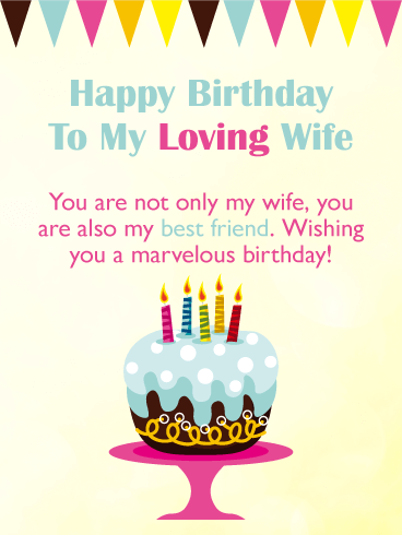 Wishing You A Marvelous Day Happy Birthday Card For Wife Birthday Greeting Cards By Davia Happy Birthday My Wife Happy Birthday Wishes Cards Birthday Wishes For Wife