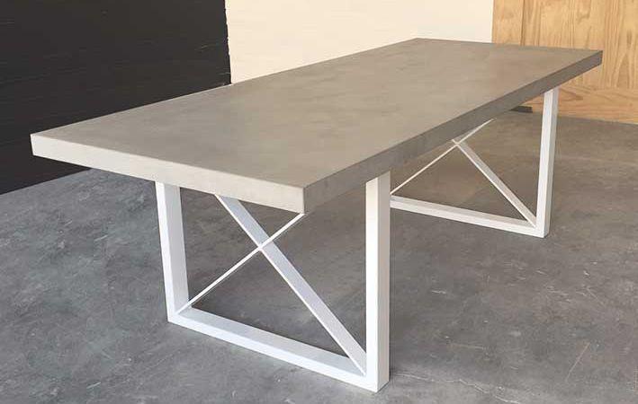 Makers Lane Concrete Metro Dining Table Custom Made Bespoke
