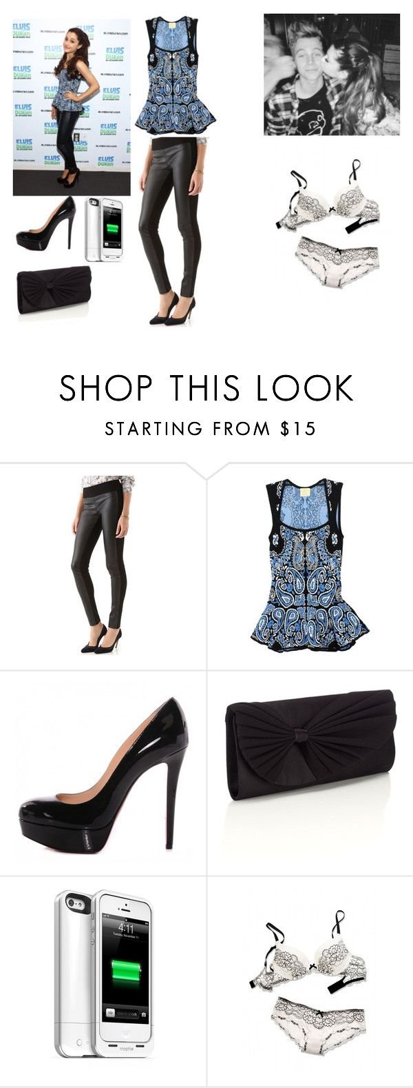"""""""Untitled #1332"""" by queenxpaige ❤ liked on Polyvore featuring Club Monaco, Torn by Ronny Kobo, Christian Louboutin, Accessorize, Mophie and Victoria's Secret"""