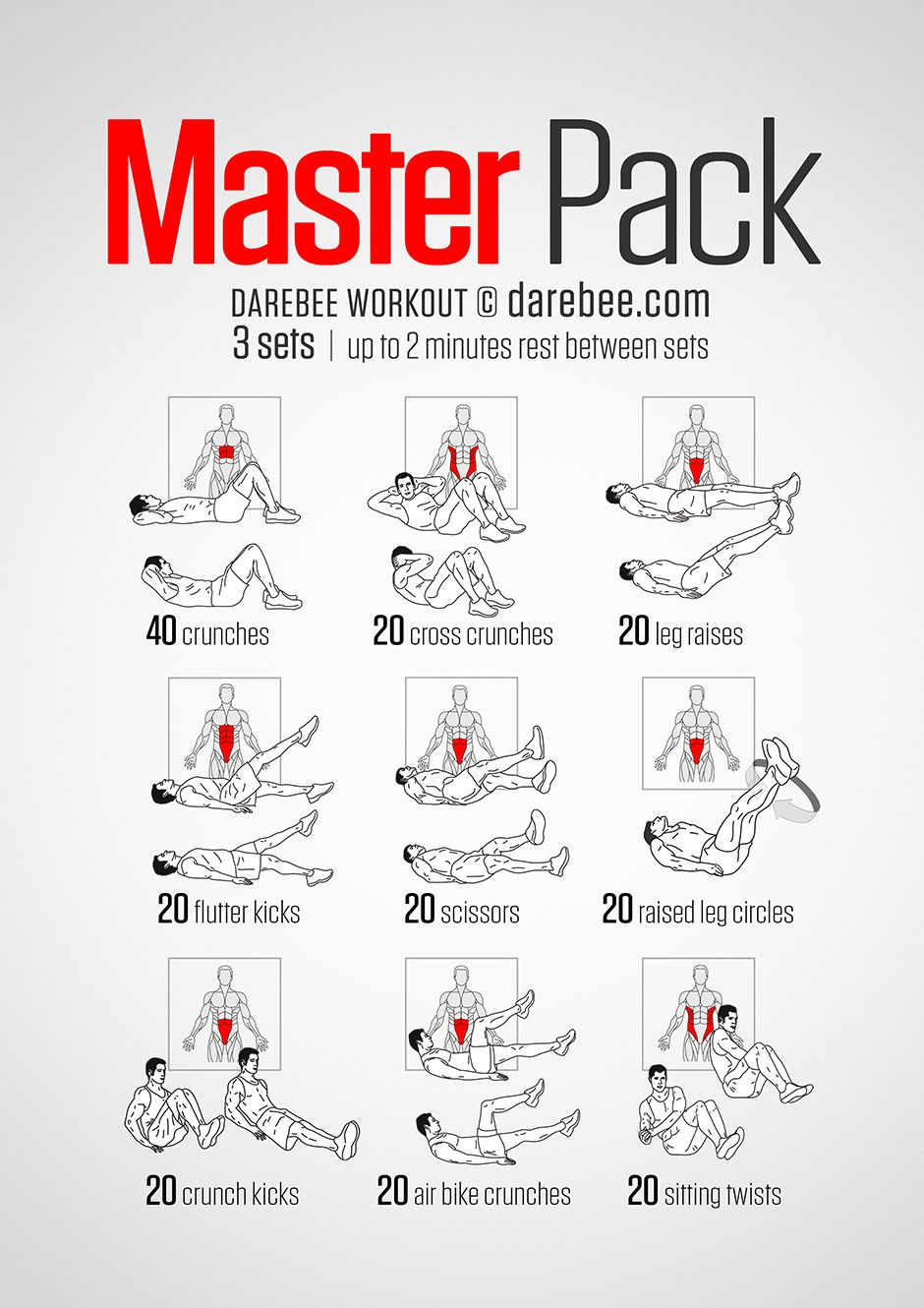 Masterpack workout workout pinterest workout exercises and gym masterpack workout fandeluxe Image collections