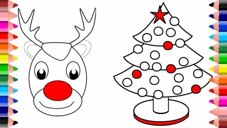 Natale Da Colorare Due Disegni Simpatici E Facili Da Realizzare