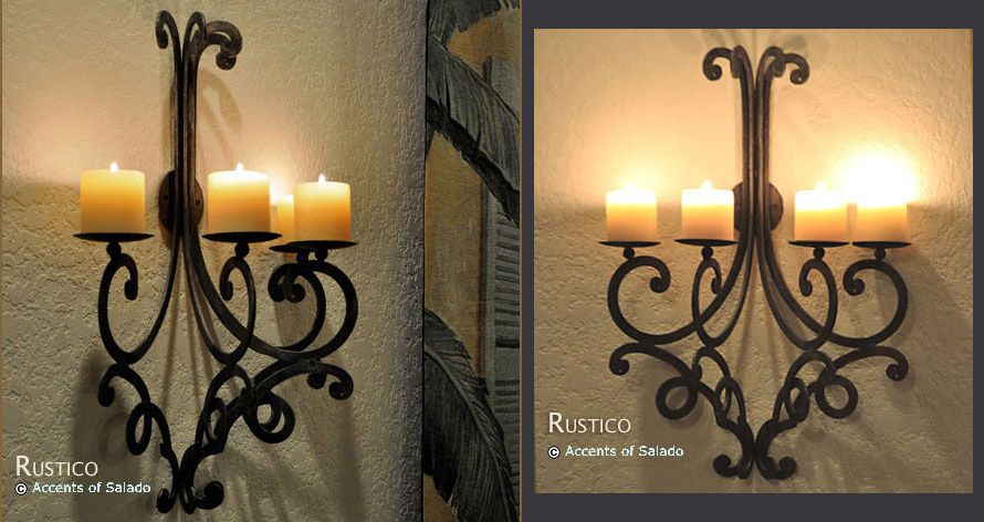 Tuscan Wall Decor Candle Sconce