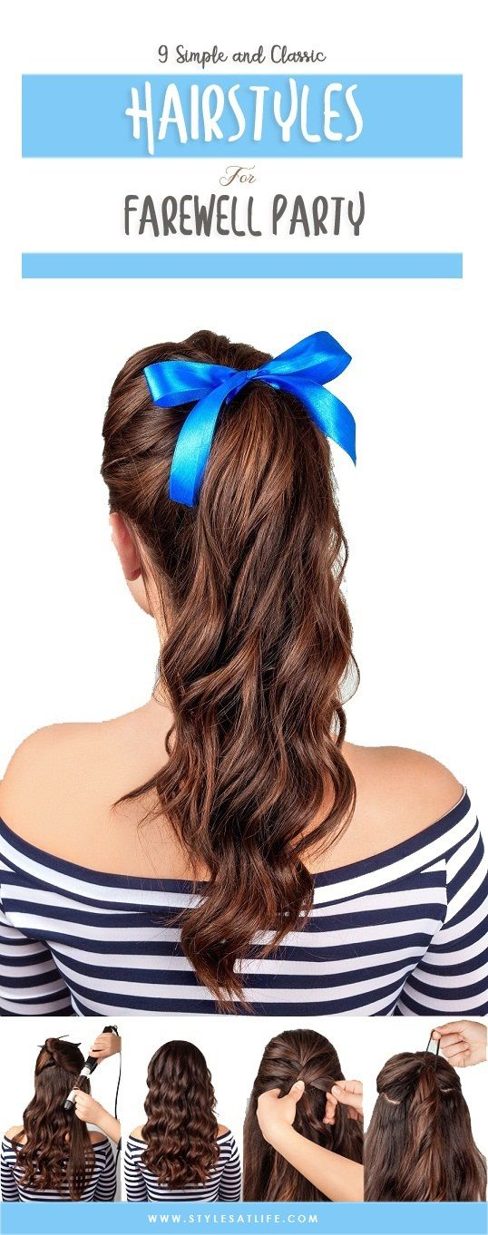 Top 9 Simple And Classic Hairstyles For Farewell Party Styles At Life Classic Hairstyles Hair Styles Basic Hairstyles